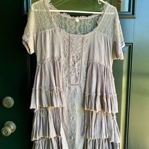 Free People ruffled dress XS